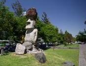 Easter Island statue in Santiago