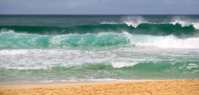 Waves at Ehukai Beach, Oahu
